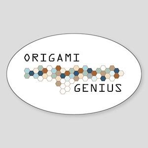 Origami Genius Oval Sticker