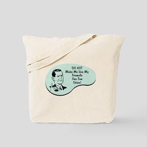 Formula One Fan Voice Tote Bag