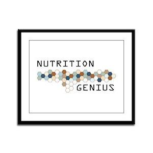 Nutrition Genius Framed Panel Print