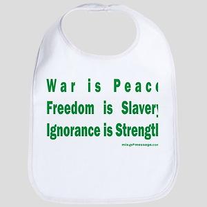 War is Peace Bib