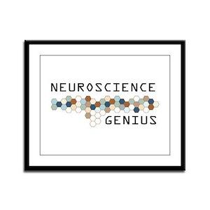 Neuroscience Genius Framed Panel Print