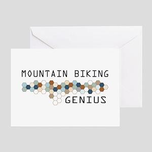 Mountain Biking Genius Greeting Card