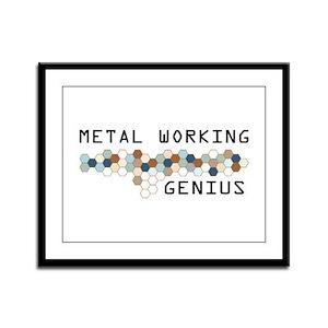 Metal Working Genius Framed Panel Print
