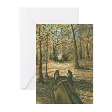 Autumn Trail Ride Greeting Cards (Pk of 10)