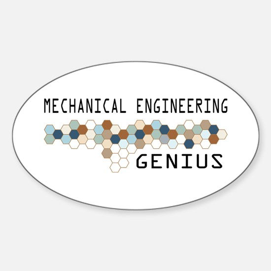 Mechanical Engineering Genius Oval Decal