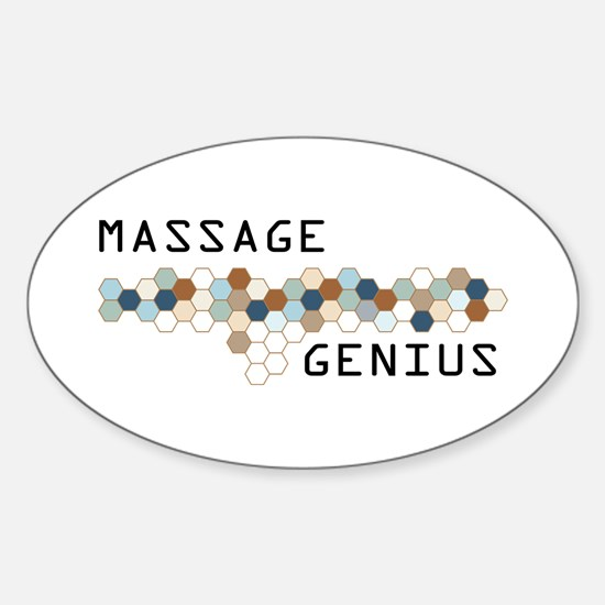 Massage Genius Oval Decal