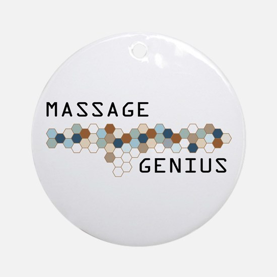 Massage Genius Ornament (Round)