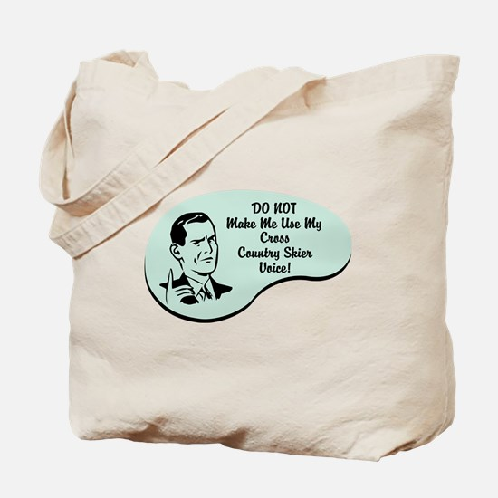 Cross Country Skier Voice Tote Bag