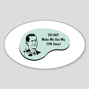 CPA Voice Oval Sticker