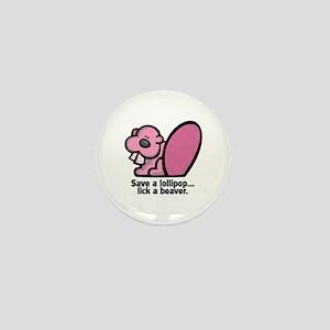 Lick a Beaver Mini Button