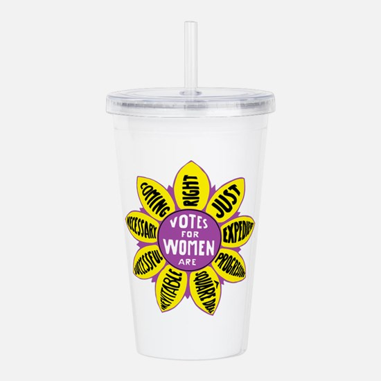 Votes for Women Vintag Acrylic Double-wall Tumbler