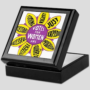 Votes for Women Vintage - color Keepsake Box