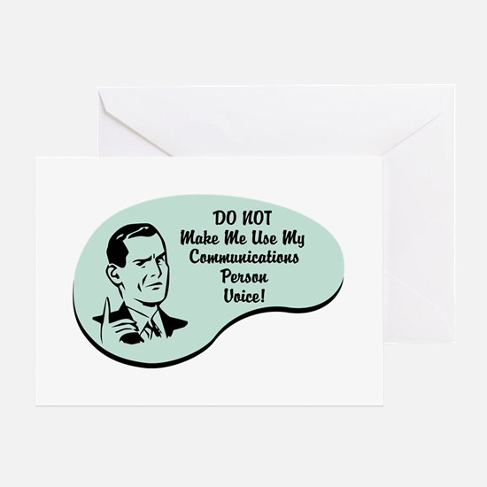 Communications Person Voice Greeting Card