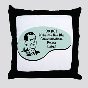 Communications Person Voice Throw Pillow