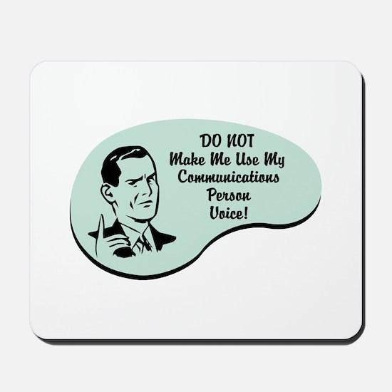 Communications Person Voice Mousepad