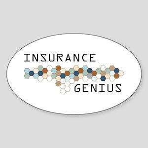 Insurance Genius Oval Sticker