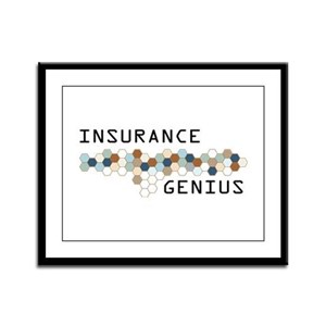 Insurance Genius Framed Panel Print