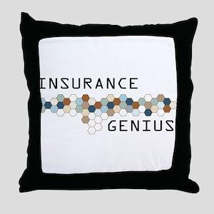 Insurance Genius Throw Pillow