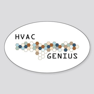 HVAC Genius Oval Sticker