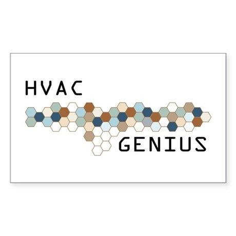 HVAC Genius Rectangle Sticker