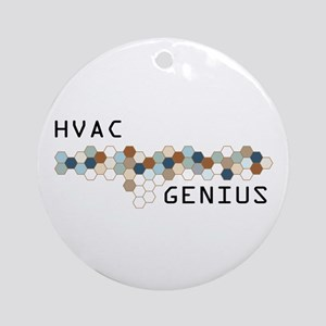 HVAC Genius Ornament (Round)