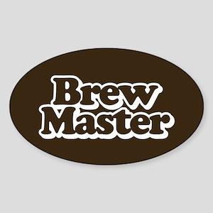 Brew Master Sticker (Oval)