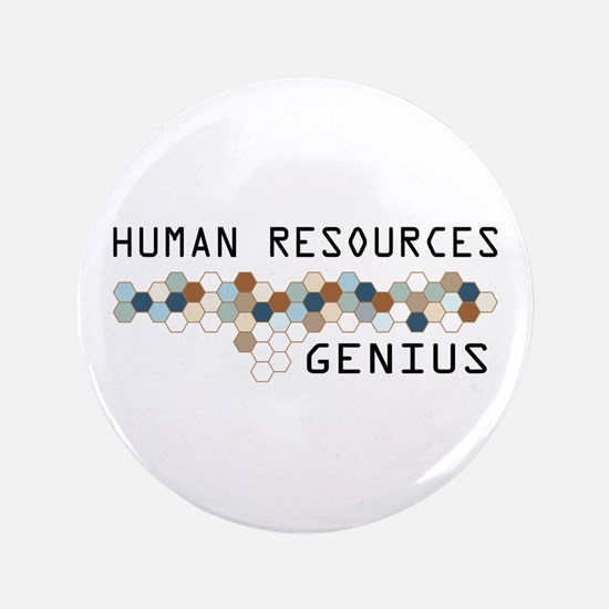 "Human Resources Genius 3.5"" Button"