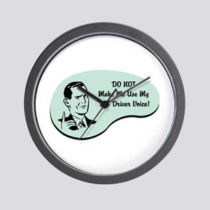 Bus Driver Voice Wall Clock