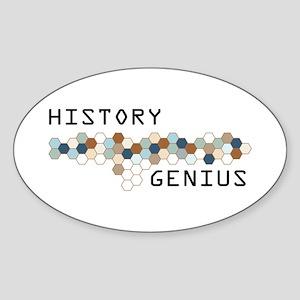 History Genius Oval Sticker