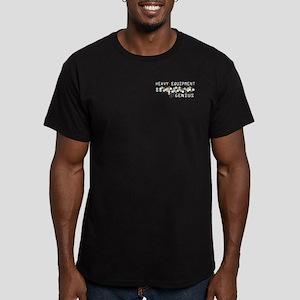 Heavy Equipment Genius Men's Fitted T-Shirt (dark)