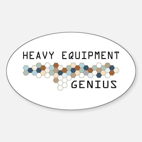Heavy Equipment Genius Oval Decal