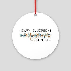 Heavy Equipment Genius Ornament (Round)