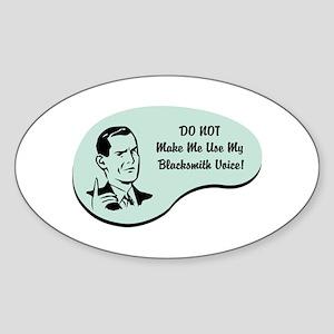 Blacksmith Voice Oval Sticker
