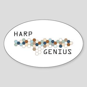 Harp Genius Oval Sticker