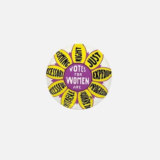 Votes for Women Vintage - color Mini Button
