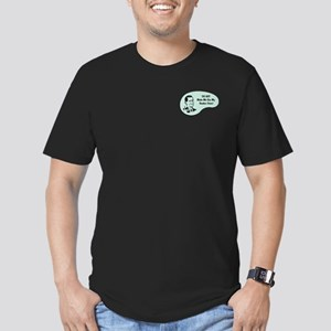 Banker Voice Men's Fitted T-Shirt (dark)