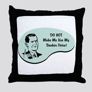 Banker Voice Throw Pillow