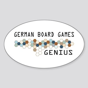 German Board Games Genius Oval Sticker