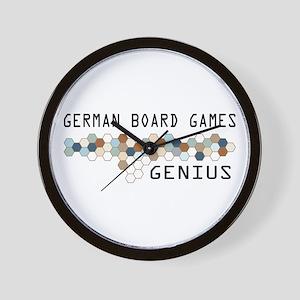 German Board Games Genius Wall Clock