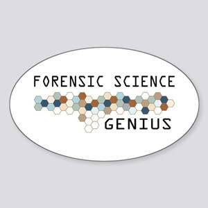 Forensic Science Genius Oval Sticker
