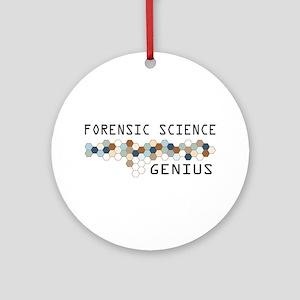 Forensic Science Genius Ornament (Round)