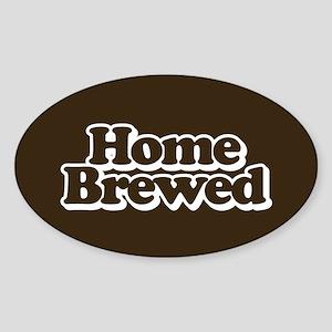 Home Brewed Sticker (Oval)