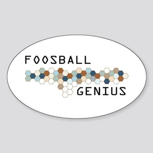 Foosball Genius Oval Sticker