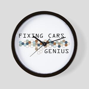 Fixing Cars Genius Wall Clock