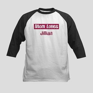 Mom Loves Jillian Kids Baseball Jersey