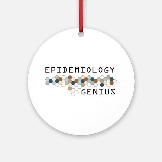 Epidemiology Genius Ornament (Round)