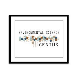 Environmental Science Genius Framed Panel Print