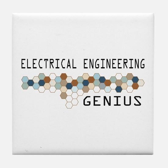 Electrical Engineering Genius Tile Coaster