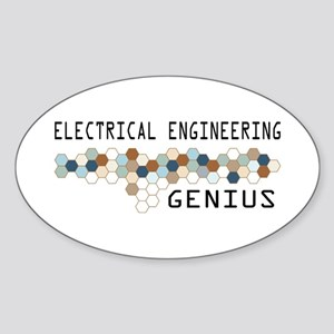 Electrical Engineering Genius Oval Sticker