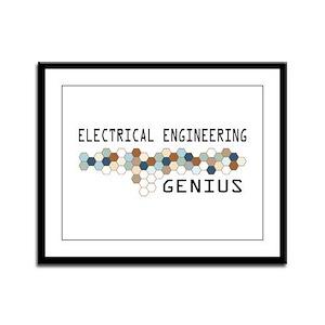 Electrical Engineering Genius Framed Panel Print